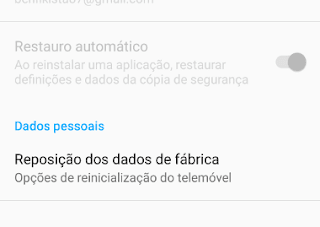 Reset de fábrica android