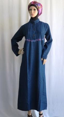 Gamis Bordir Ukuran Besar Gj1088 Grosir Baju Muslim