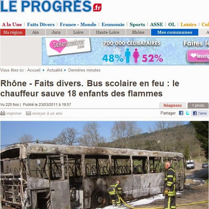 incendie bus scolaire