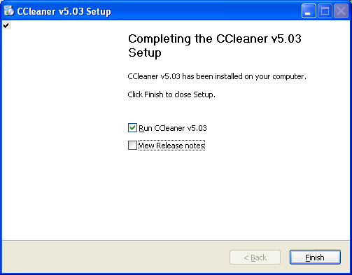 Ccleaner installed