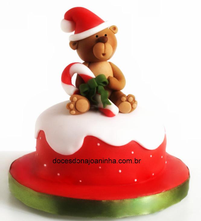 Minibolo Ursinho Papai Noel