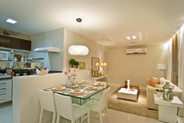 decorar sala branca:Sala De Jantar