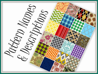 Some of the most popular patterns are named and described here!