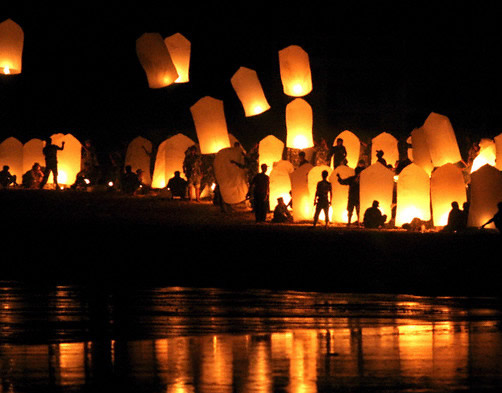 how to make paper lanterns that float in the sky