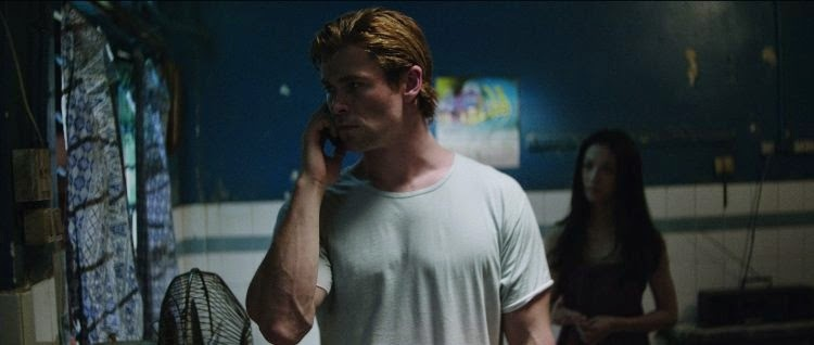 Chris Hemsworth and Wei Tang in Blackhat, directed by Michael Mann.