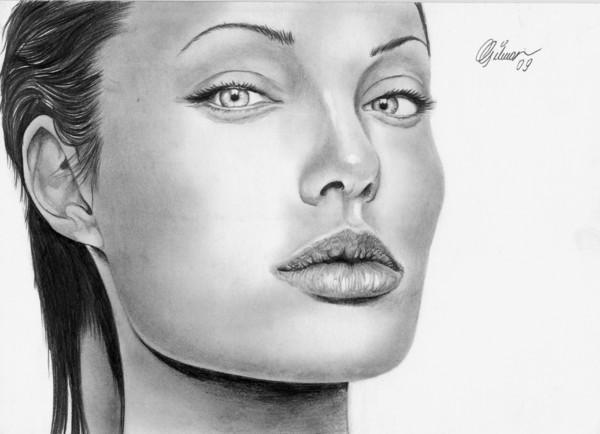 Dibujos a lápiz de mujeres famosas. | Quiero más diseño
