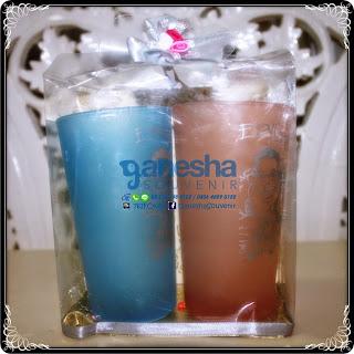 souvenir gelas doff warna murah surabaya