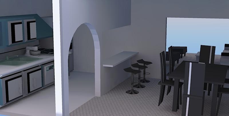 Interiores4 propuestas monocromaticas for Dividir cocina comedor