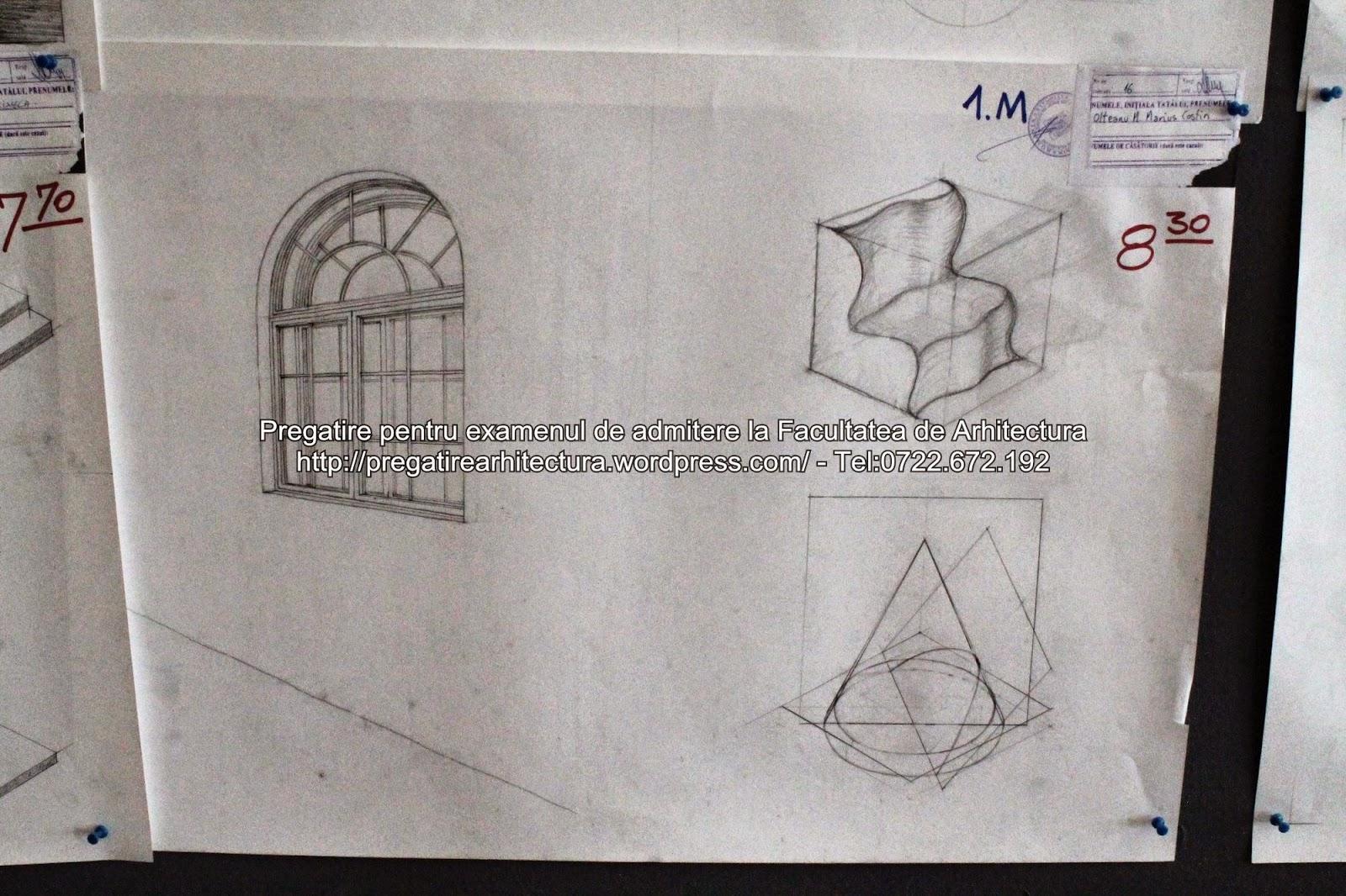 Planse examen admitere Arhitectura de Interior, Mobilier, Design – UAUIM – 2014