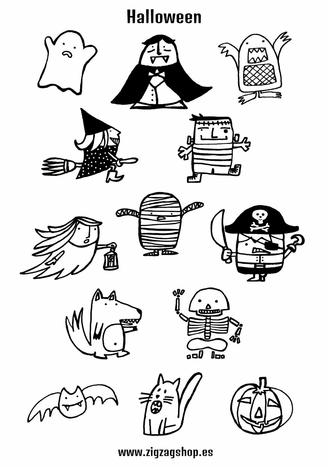 Los Garabatos de Sapeón: Ilustración Halloween de www.zigzagshop.es ...