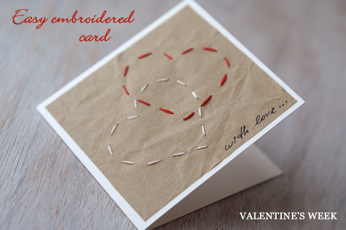 EMBROIDERED VALENTINES DAY CARD SAS doesEMBROIDERED
