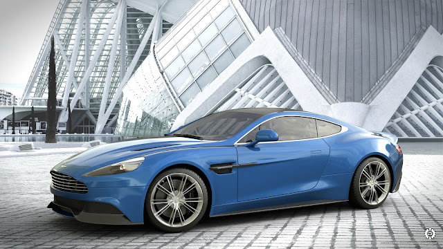 Aston Martin Vanquish Blue Car HD Wallpaper