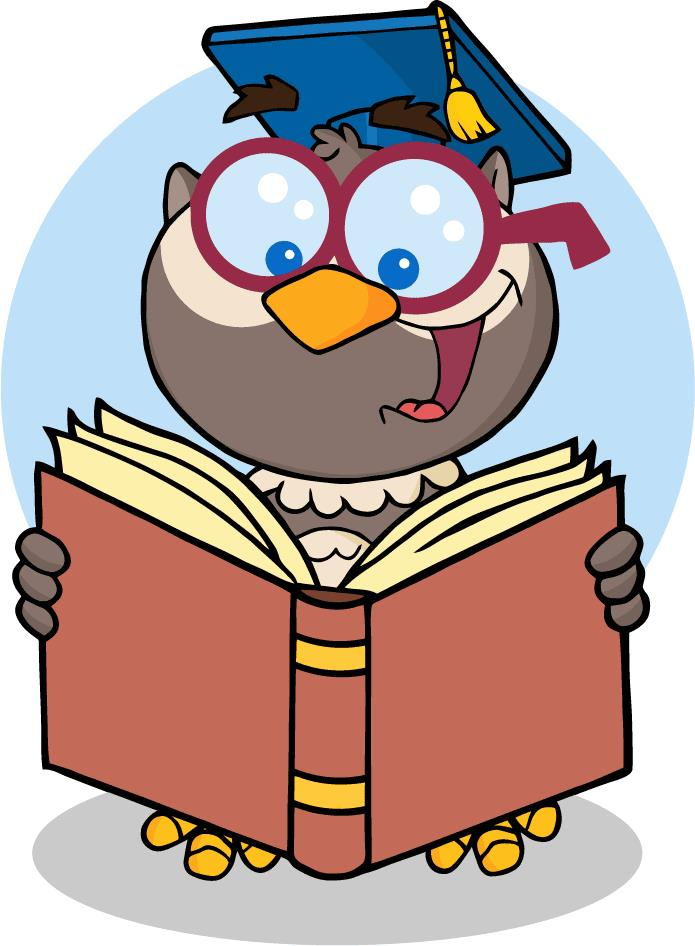 jpg 4309-Owl-Teacher-Cartoon-Character-With-Graduate-Cap-Reading-A    Owl Teacher Cartoon