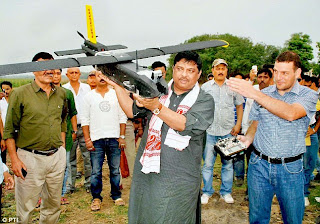 unmanned aircraft test at Assam