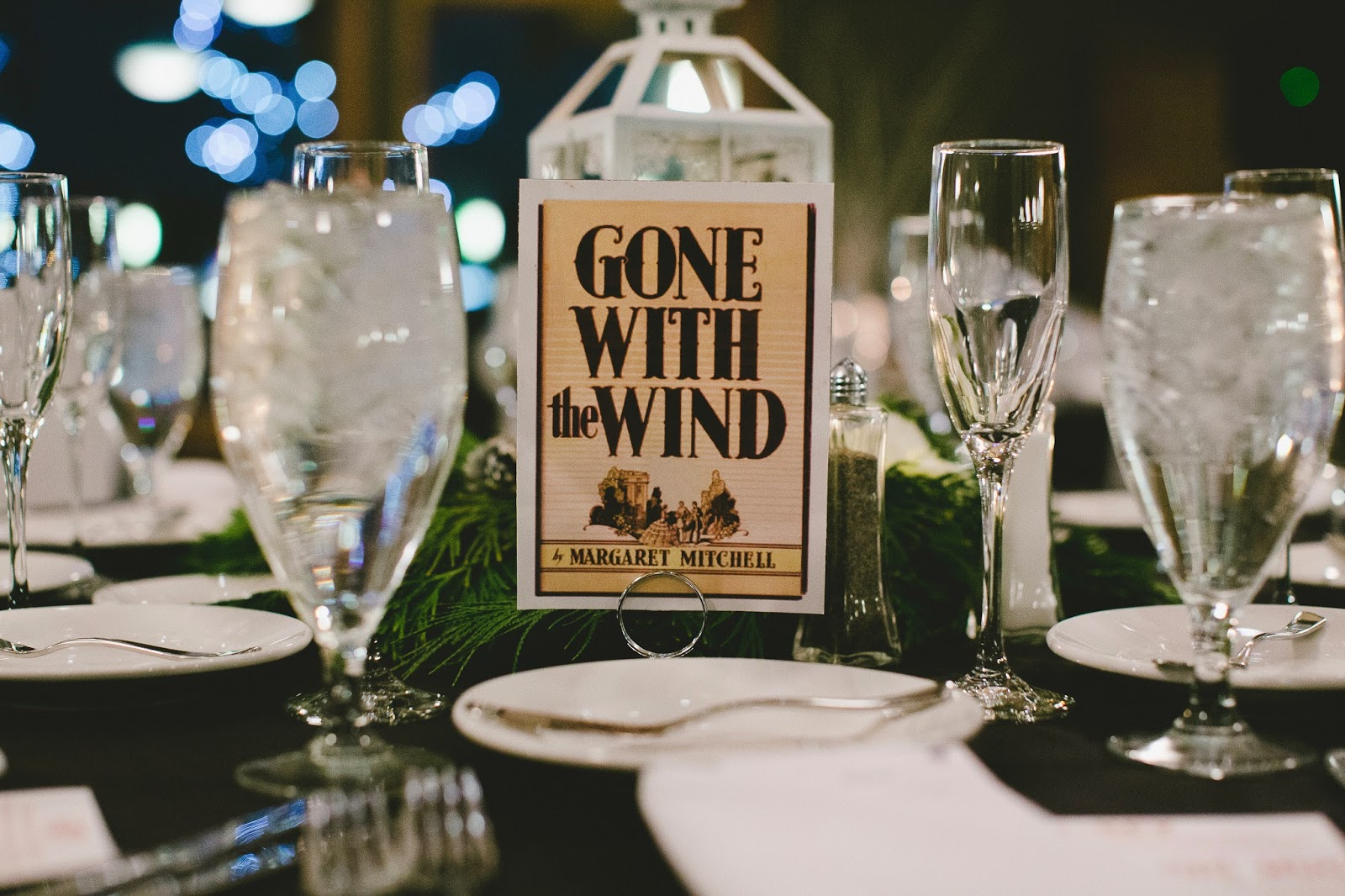 Book inspired wedding decor // Bethany Carlson Photography // Take the Cake Event Planning