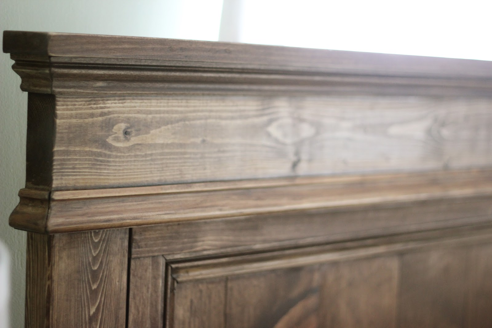 Jenny steffens hobick our bedroom design board for Wood headboard ideas