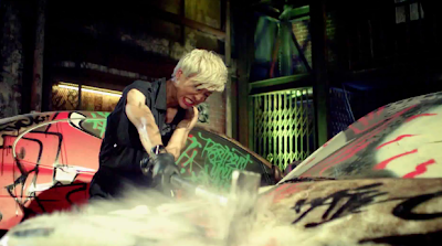 BAP Warrior smashing cars