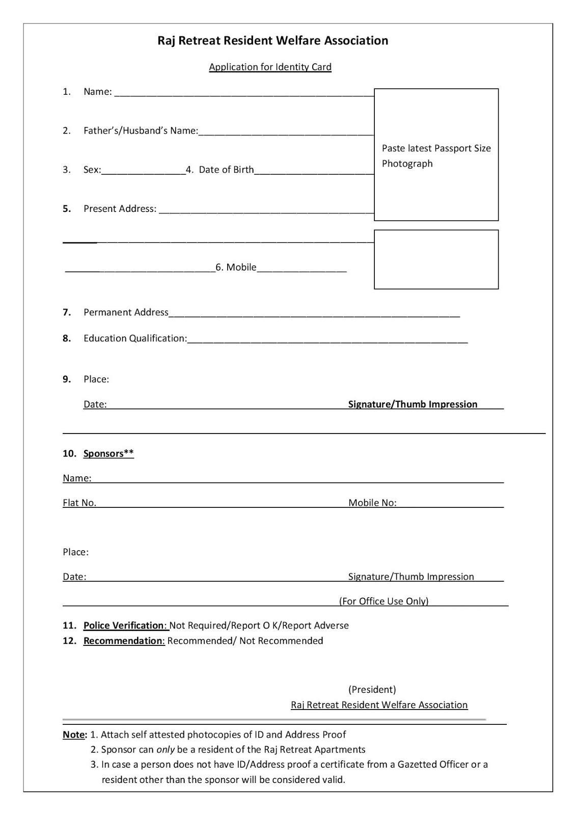 2016school card application form b