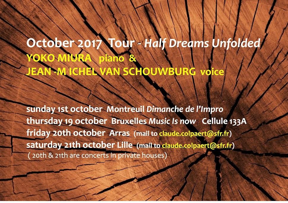 Half Dreams Unfolded Yoko Miura & JM Van Schouwburg duo tour