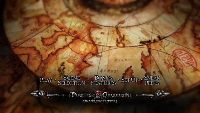 Piratas del Caribe Navegando Aguas Misteriosas DVDR Menu Full [Español Latino] NTSC [2011]