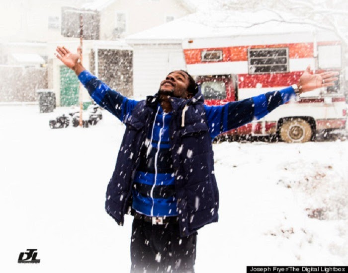 Nigerian Man's Reaction to First Winter Snowfall Will Make You Appreciate The Little Things