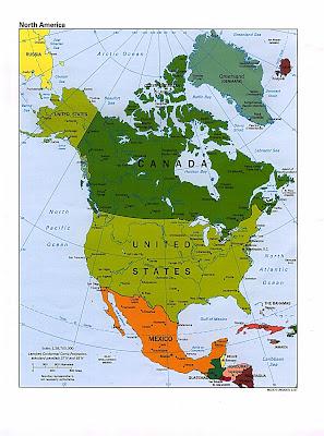 Amerique du Nord Carte Avec Pays