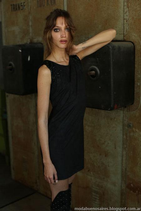 Vestidos de noche cortos otoño invierno 2014 colección de moda Tucci invierno 2014.
