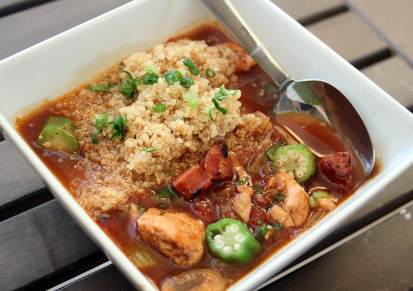 Blog: Healthy Comfort Food: Chicken and Sausage Gumbo with Quinoa