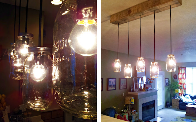 Mason Jar and Pallet Wood Light Fixture: Our 8 Favorite Upcycled DIY's for Your Home