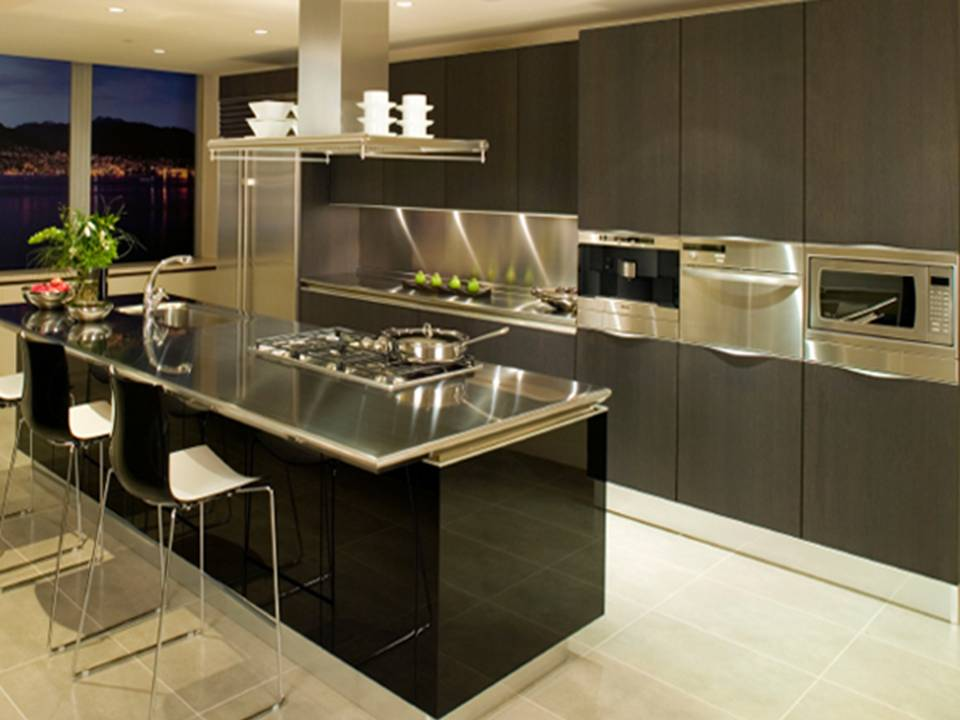 Home decor stainless steel kitchen appliances for Stainless steel kitchen designs