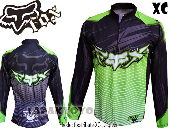 jersey sepeda fox, baju sepeda murah, mtb