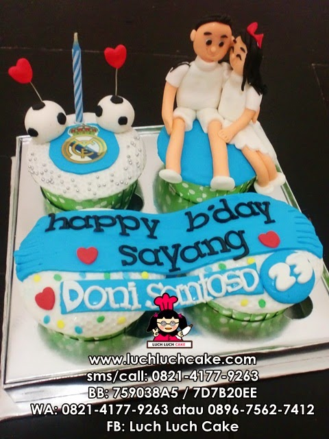 Cupcake Real Madrid Romantis Daerah Surabaya - Sidoarjo