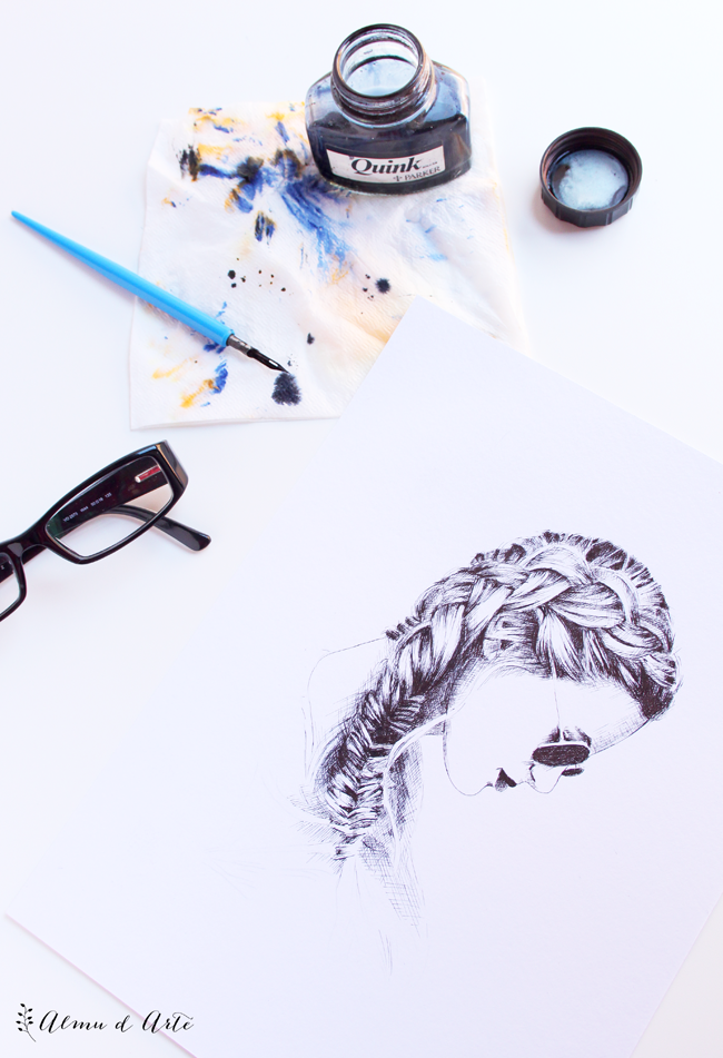 Cómo dibujar con plumilla