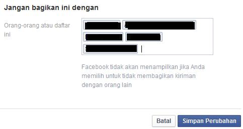 bagaimana cara menyembunyikan status FB