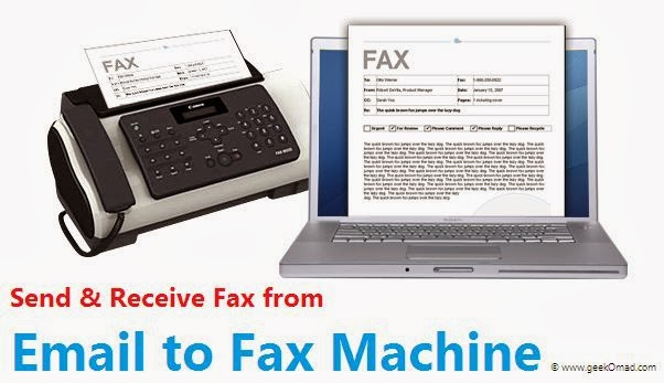send an email to fax machine