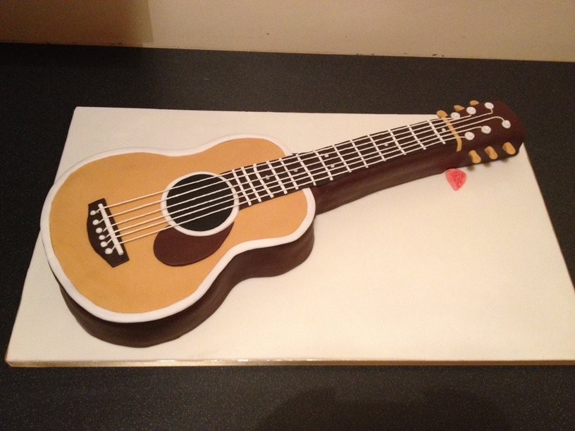Guitar Birthday Cake Images : Pin Guitarist Guitar Player Birthday Cake Topper ...