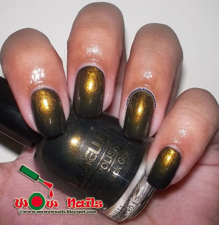 WoW Nails: La Belle Black Gold Swatches and Review
