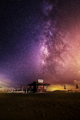 Colourful starry sky