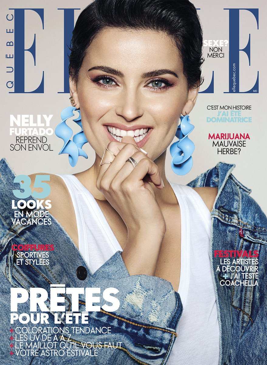 Nelly furtado on elle quebec magazine timbaland page for Elle magazine this month