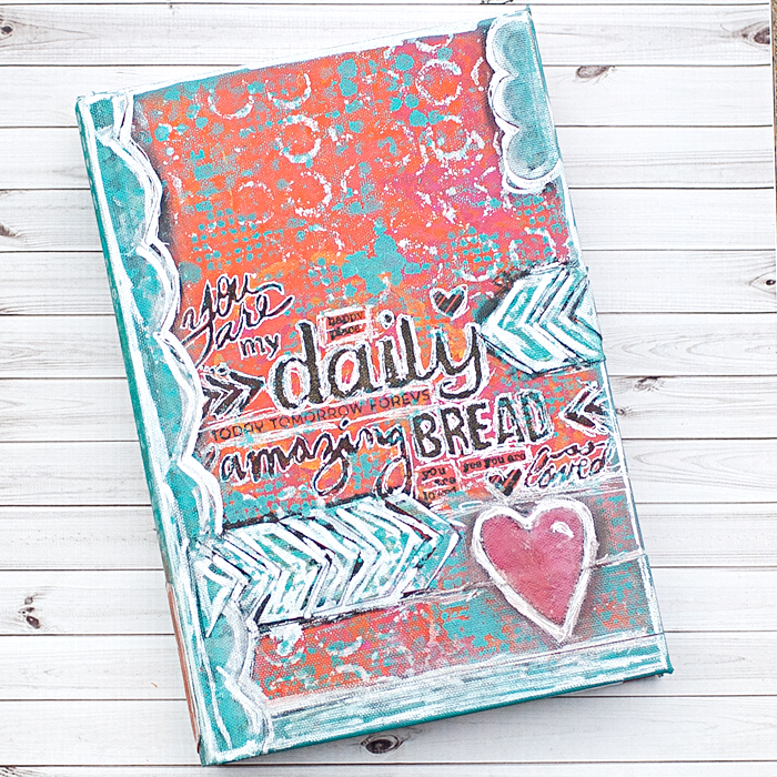 Mixed media heart journaling bible covering and for Decorated bible