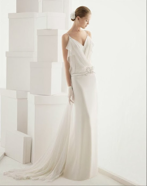 2014 fall chiffon wedding dress