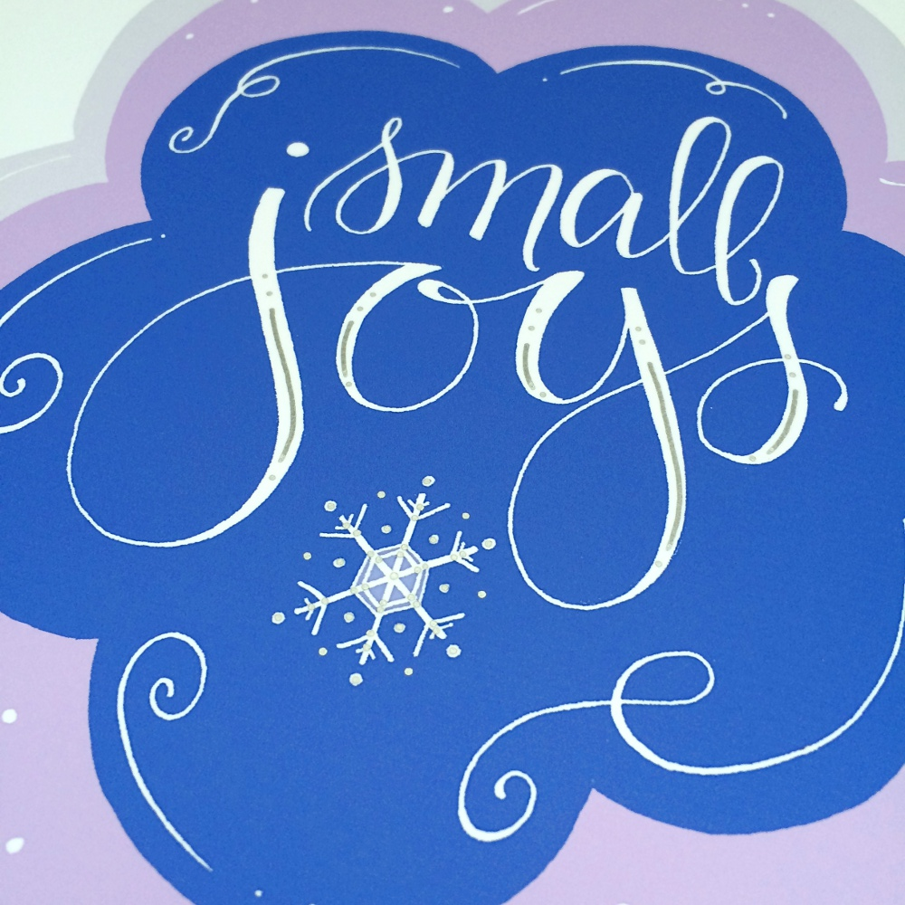 Lettering Lately > winter print at Bright Winter Studio, etsy