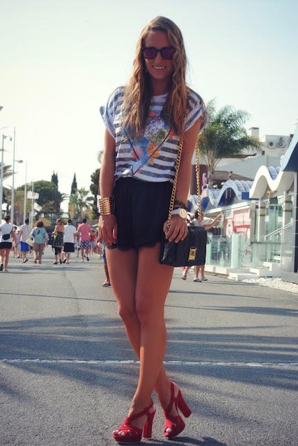 street style, t-shirt Zara, Mala Manjerica, Sapatos Zilian.