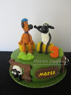A ovelha choné e amigos no 3º aniversário da Marta