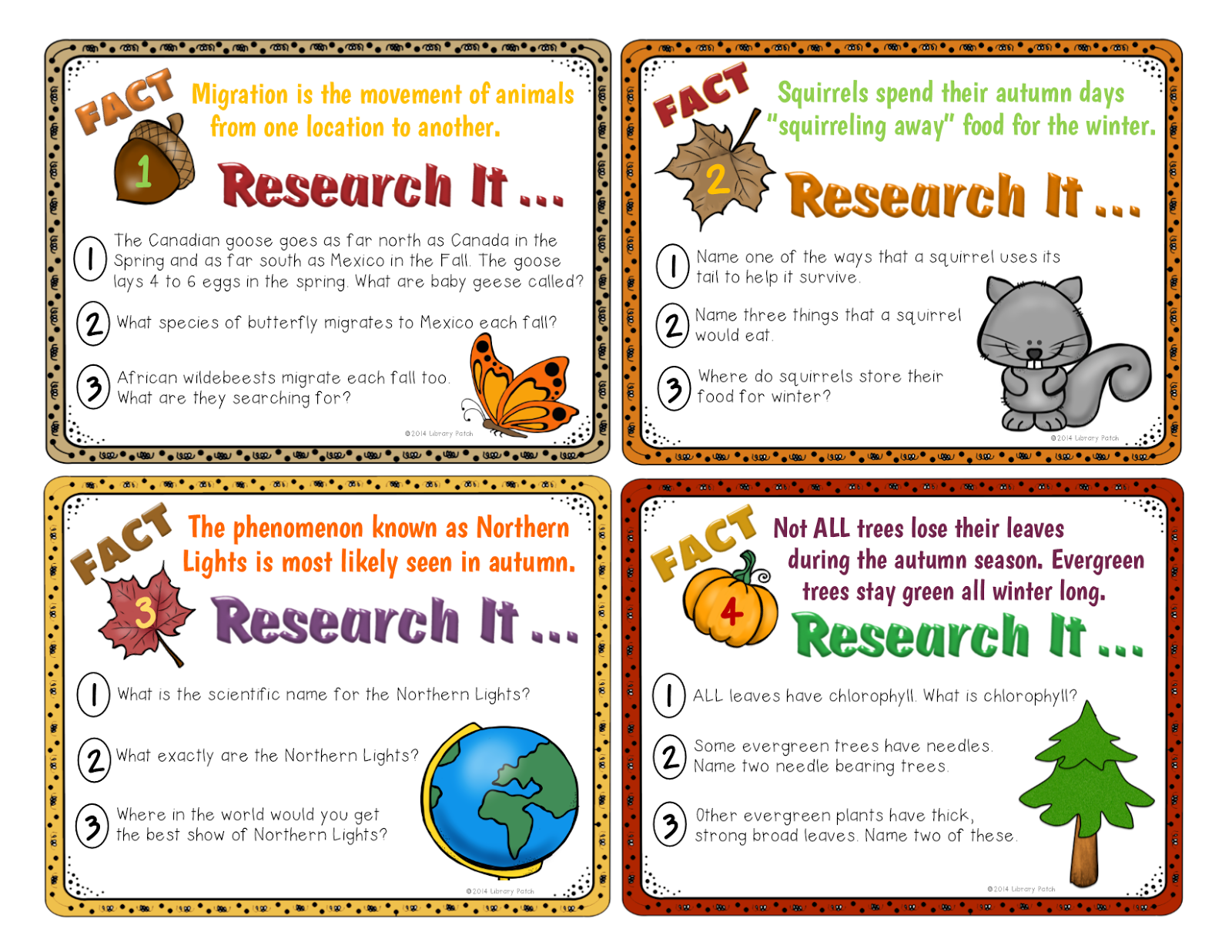 Cards Research Research-based Task Cards