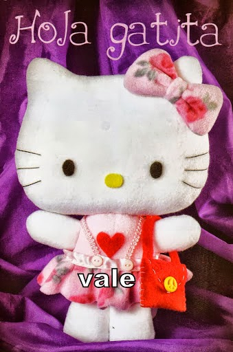 Hello Kitty de feltro com moldes
