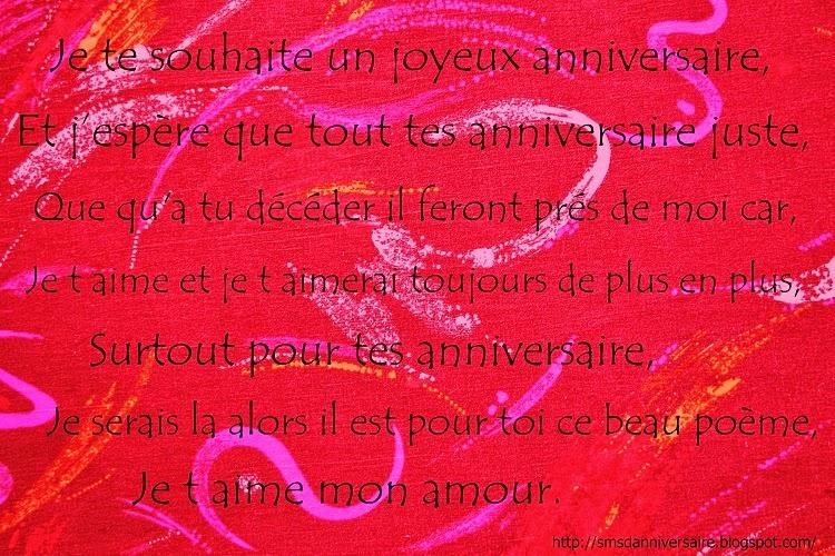 Sms D Anniversaire Poeme Pour Mon Amoureux