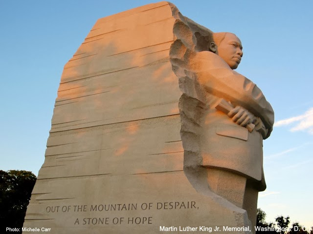 MLK Memorial  Washington, D.C.  Photo: Copyright Michelle Carr 2013 / Travel Boldly.com