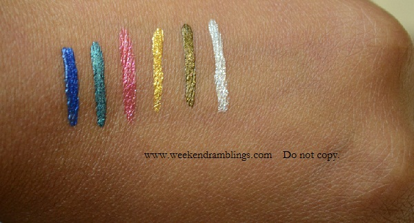 urban decay 24 7 waterproof liquid eyeliners swatches Perversion Sabbath Demolition Revolver Retrograde Radium Siren Woodstock ElDorado Smog Baby Dazzle