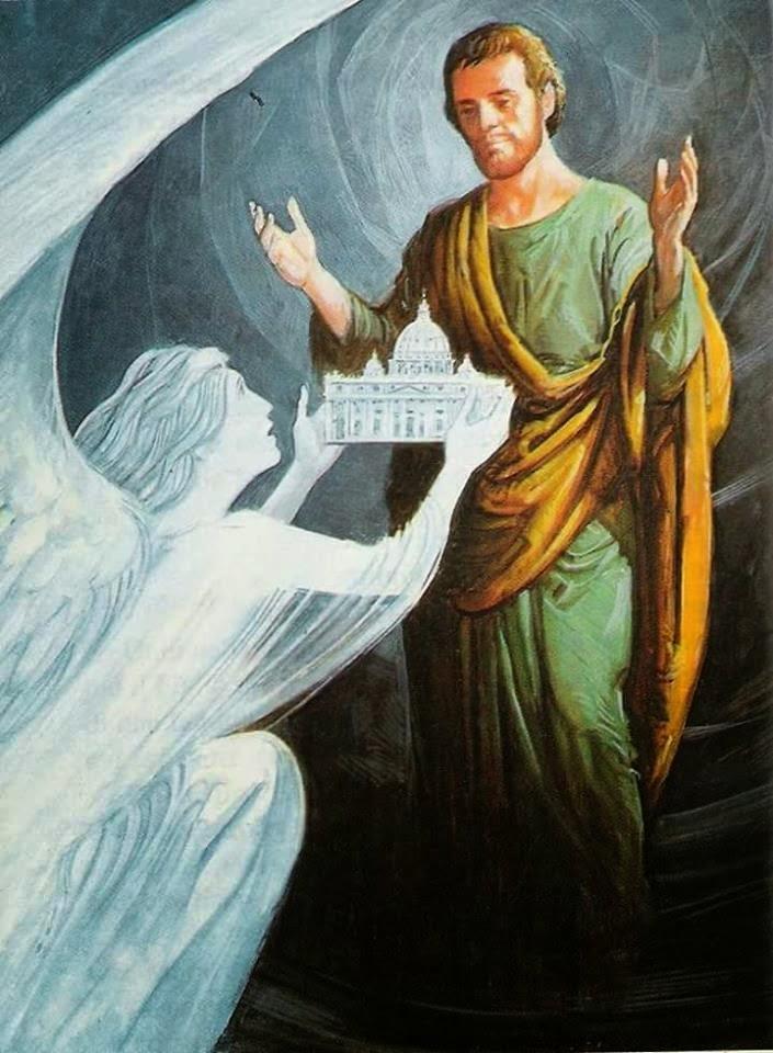 São José patrono da igreja Chefe das famílias Homem da Divina Providência.  Rogai por nós